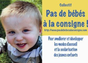 Affiche pas de bébé à la consigne